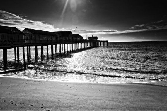 Southwold Pier black and white by HaworthPhotography on Etsy