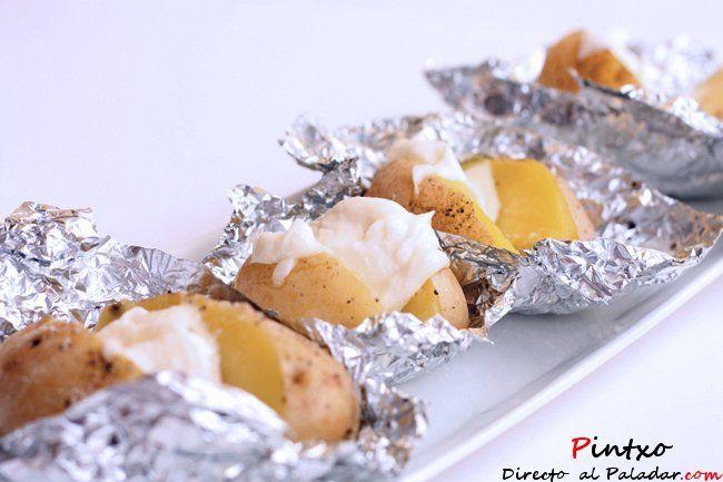 Patatas asadas en el horno. Receta con fotos del paso a paso y de la elaboración. Con trucos y consejos de degustación...