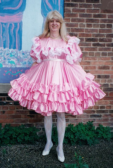 Pink Satin Party Dress With 2 Quot Polyester Nylon Lace Trim