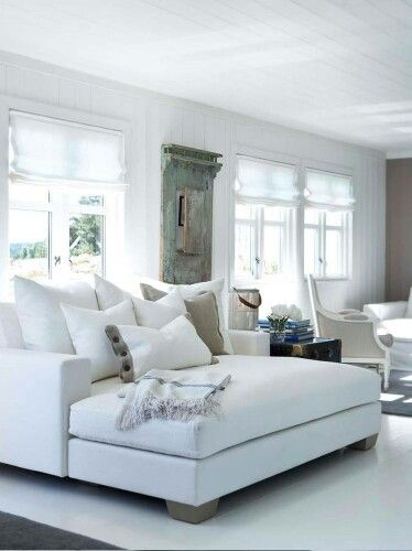 The White Wall Seems To Add A Focal Point Room Plus Crisp Couches Bring Warmth Classy And Yet Rustic Hanger Adds