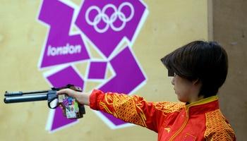 Women's 10-Meter Air Pistol  Gold: Guo Wenjun, China  Silver: Celine Goberville, France  Bronze: Olena Kostevych, Ukraine
