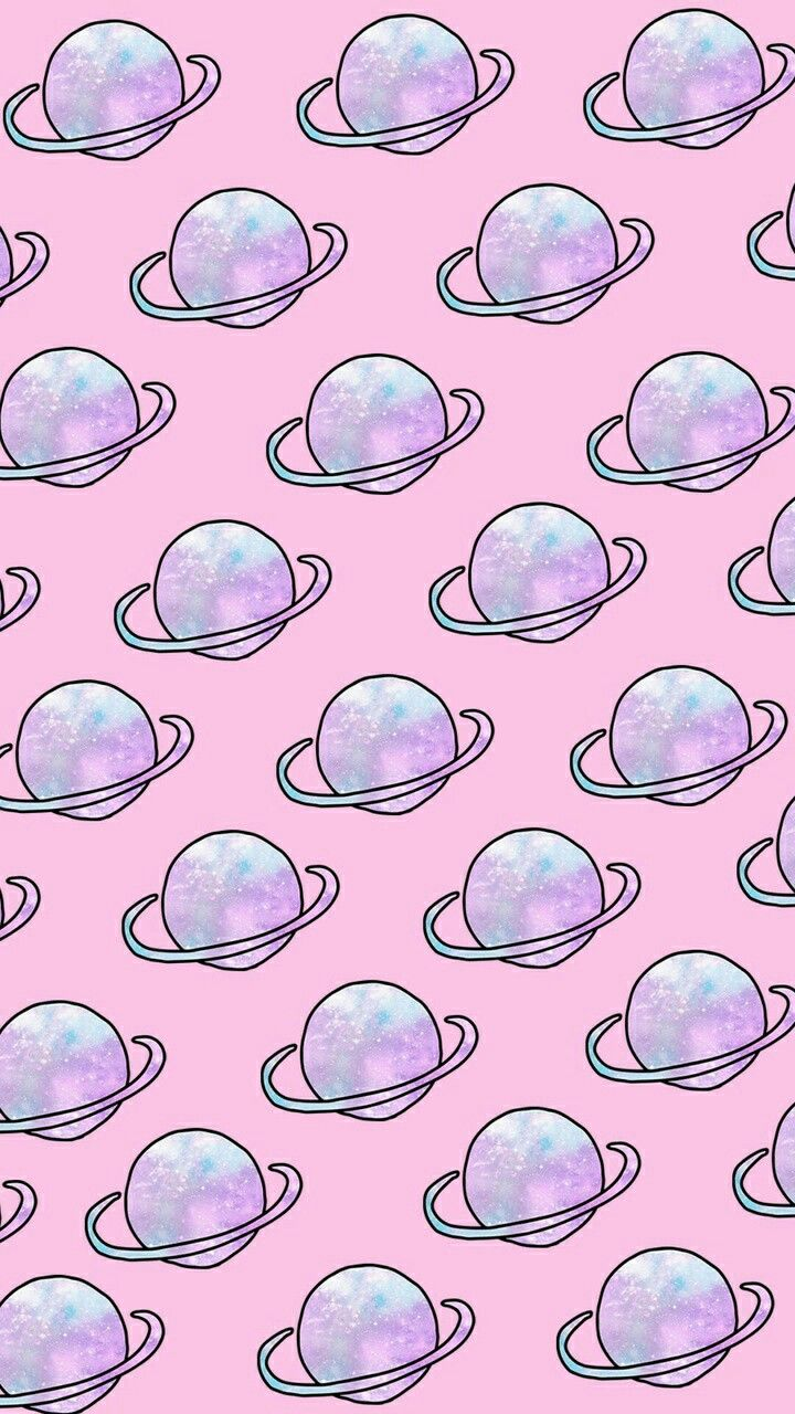 Wallpaper saturno wallpapers - Wallpaper Space Planeta Padr O Pink Fofo