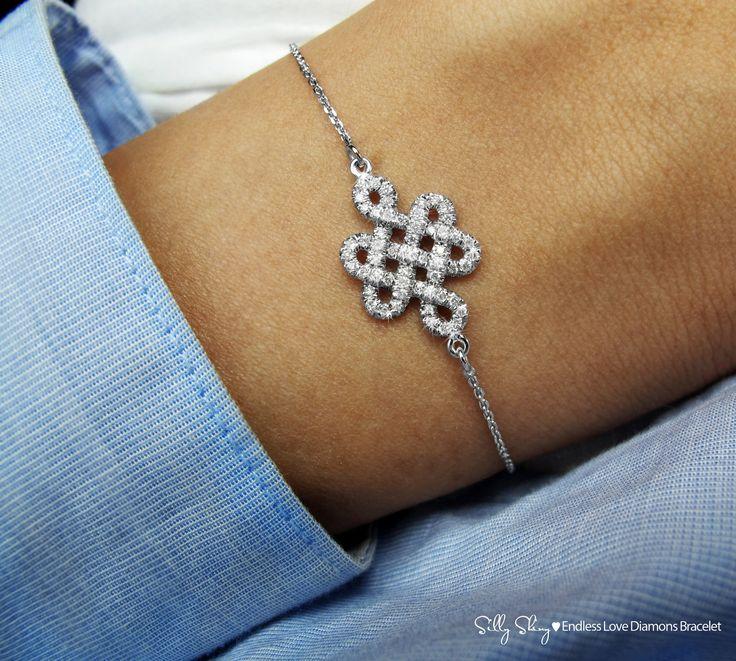 Endless Love Diamond Bracelet 14K Gold by SillyShiny on Etsy. Love it! Love her designs!