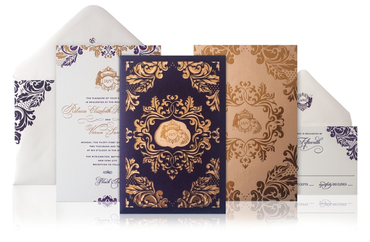 Purple Indian Wedding Invitations: 253 Best Images About Purple & Gold Indian Wedding On