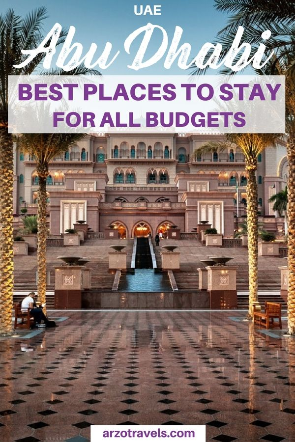 UAE - Abu Dhabi - where to stay. Accommodation tips for all budgets in Abu Dhabi. Abu Dhabi best places to stay.