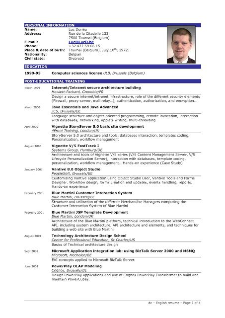 Format sample of resume - sample of resume