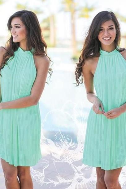 Mint Bridesmaid Dress,Short Mint Bridesmaid Dresses,Short Mint Dress,Mint Prom Homecoming Dress,Mismatch Bridesmaid Dress,Short Mint Chiffon Dress,Chiffon Party Dress