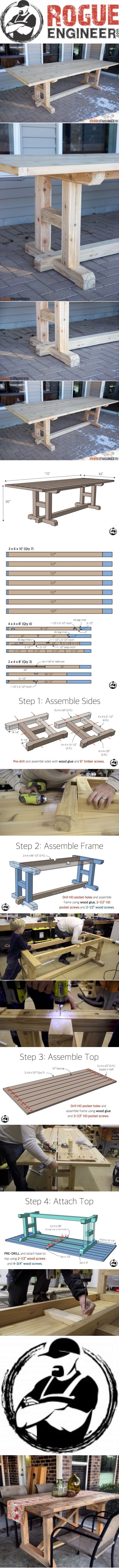 DIY Furniture Plans & Tutorials : 10 images about Furniture to build on Pinterest   Upholstery Compact living an