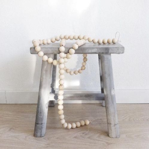 Krukje + houten kralenketting/woonketting