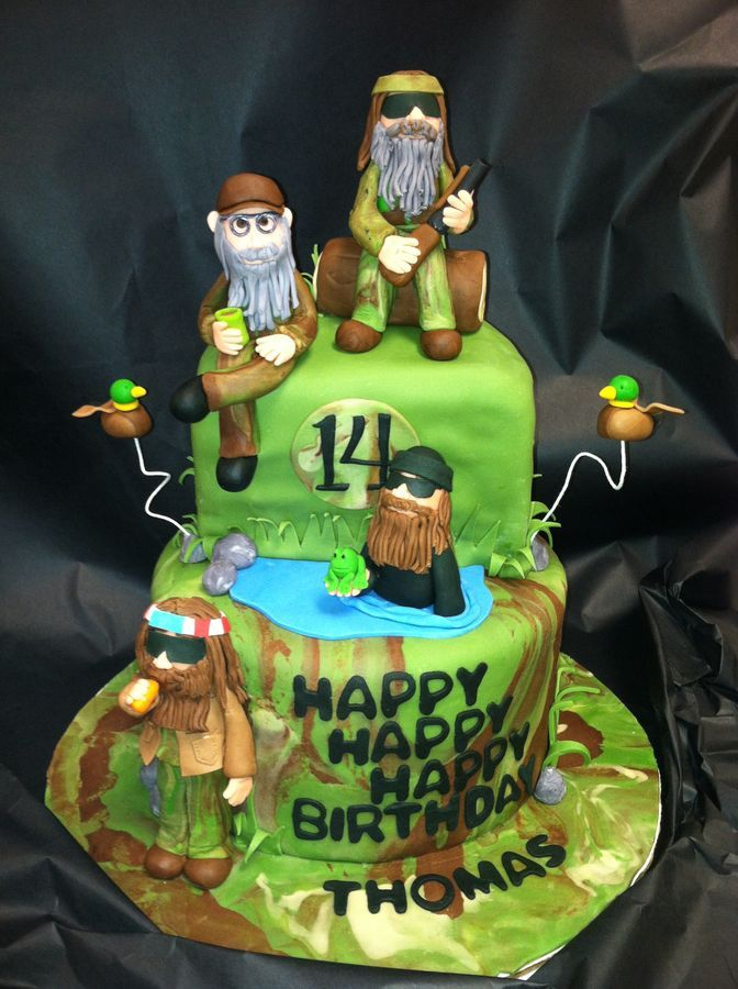 All figures (and ducks) made from fondant. Much thanks to Cre8iveSue for the inspriation!