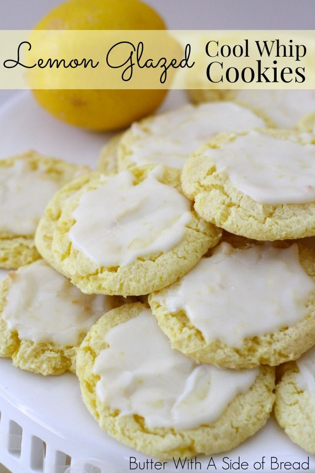 Cool whip cookies, Cool whip and Lemon on Pinterest