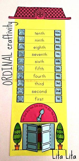 Estos son ejemplos de manualidades creativas para la enseñanza del número ordinal