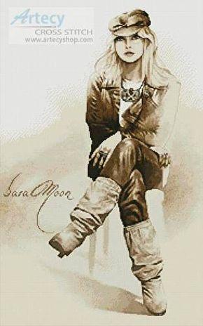 Rocker Girl - Sara Moon Cross Stitch Pattern