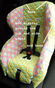Car Seat Cover...great idea to keep the carseat clean...take it off throw it in the wash :)
