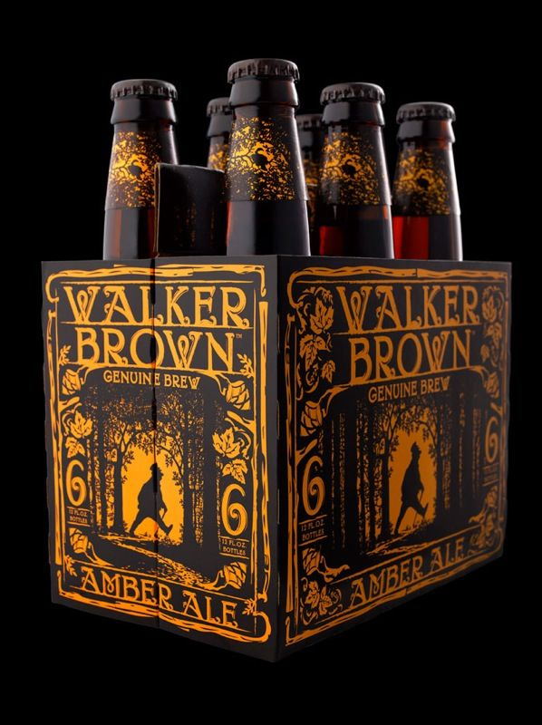 Walker Brown Amber ale. Beer packaging design by Stranger & Stranger - featured on The Dieline