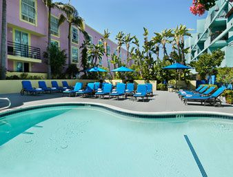 Pool at the Ramada Plaza West Hollywood Hotel and Suites in West Hollywood, California