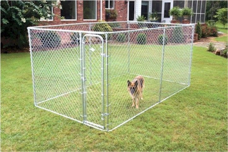 17 best ideas about chain link dog kennel on pinterest for Dog fence enclosure