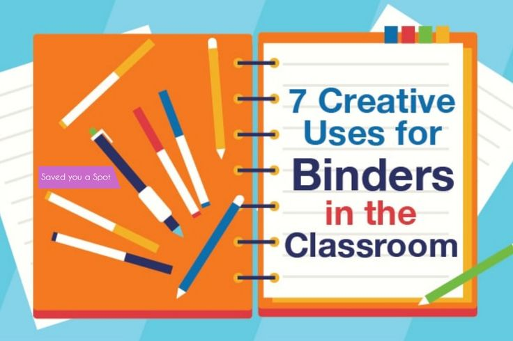 7 Creative uses for binders in the classroom
