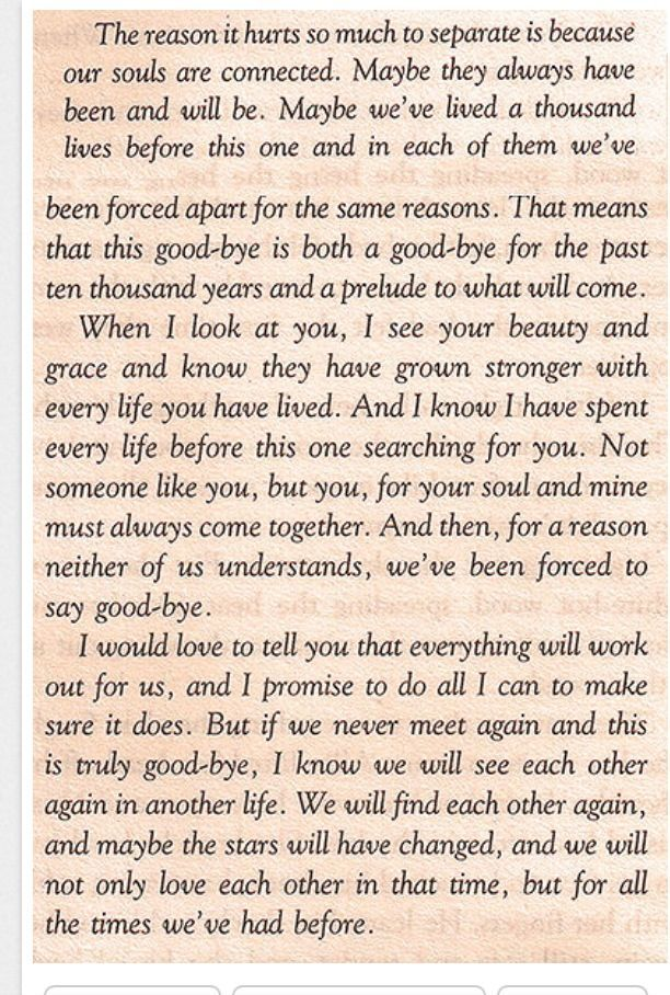 O.M.G!! This is such a sweetly gut-wrenching letter of absolute true love fighting to be together...time after time. Love it!!