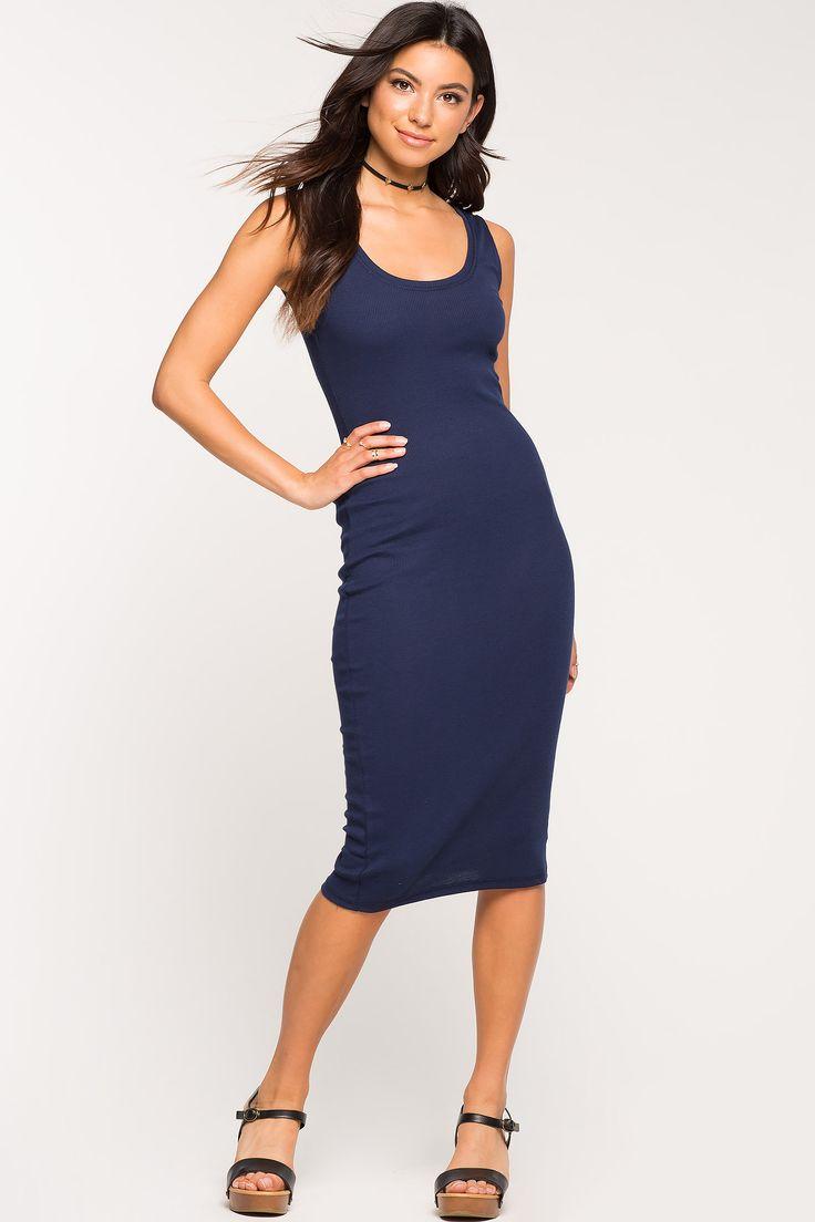 Women's Day Dresses   Essential Tank Column Dress   A'GACI