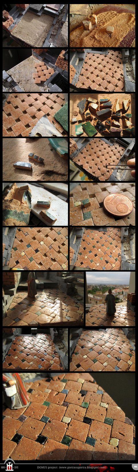 Domus project 195: 14th century ceramic tile floor