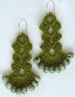tutorial crochet earrings