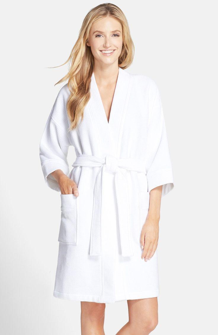 Wafle Knit White Robe | Fashideas.com