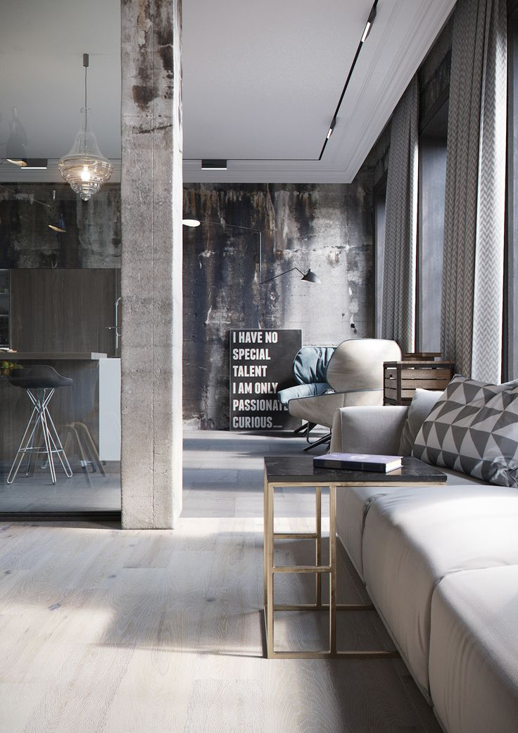 Industrial Loft Via Behance Gravityhomeblog