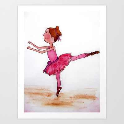 The Little Ballerina Art Print by Natalie Murray - $18.00