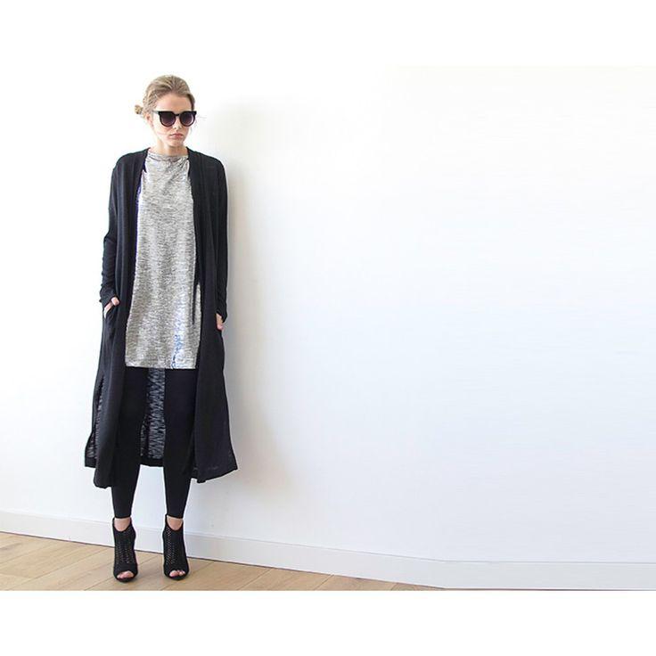 Maxi Knitted Cardigan, Maxi Coatigan, Black cardigan , Longline Cardigan, Long sleeves cardigan , Winter outfit