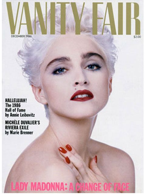 Madonna Vanity Fair Magazine Cover in 1986. #fashion #icon http://www.ivillage.com/britney-spears-more-vintage-celebrity-magazine-covers/1-a-525177#