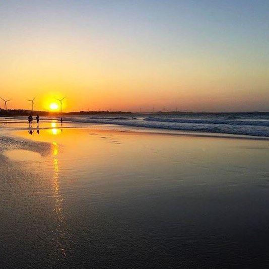 Lindo pôr-do-sol! Praia de Flecheiras - Trairi-Ce  #sunset #beach by viajarecurtir