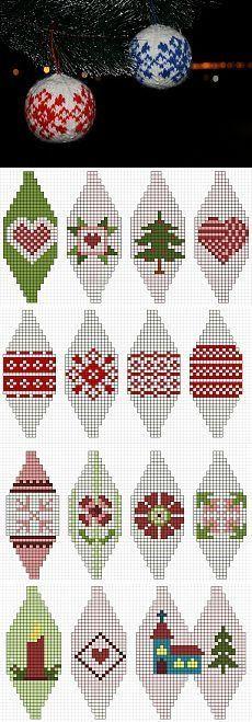 Knitted baubles for Christmas Idées déco pour Noël