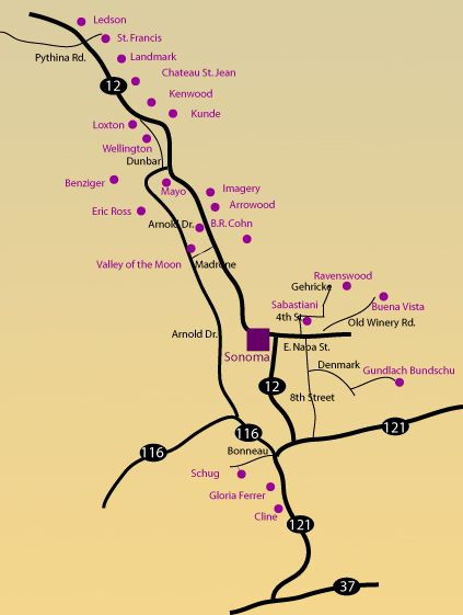Hwy 12 Sonoma Wine Trail