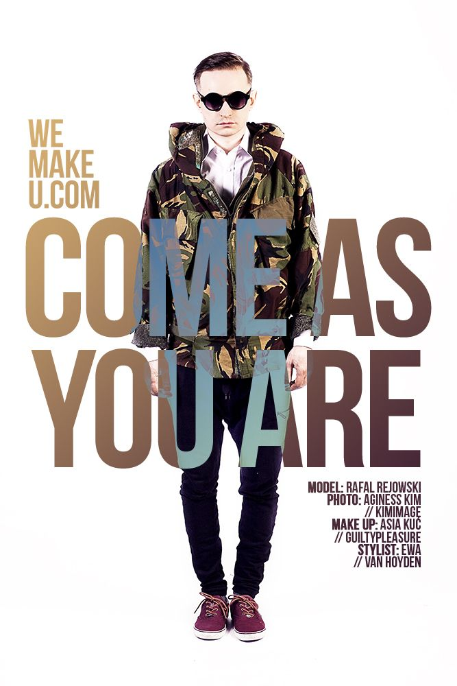 wemakeu.com // come as you are photoshoot poster // 2013
