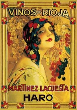 Martinez Lacuesta Winery Poster ~ Gypsy Woman Among Grapes  ~Repinned Via Györgyi Bucsás