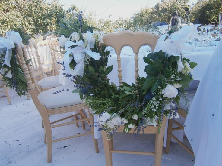 Chair garland. #chairdecoration #flowerdecor #weddingdecor #tabledecor #naturalstyle