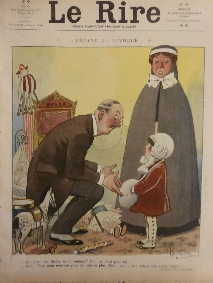 1911 DESSIN GUILLAUME ENFANT DIVORCE MARIONNETTE GUIGNOL POUPEE BERCEAU CHEVAL | Livres, BD, revues, Revues, Histoire et politique | eBay!