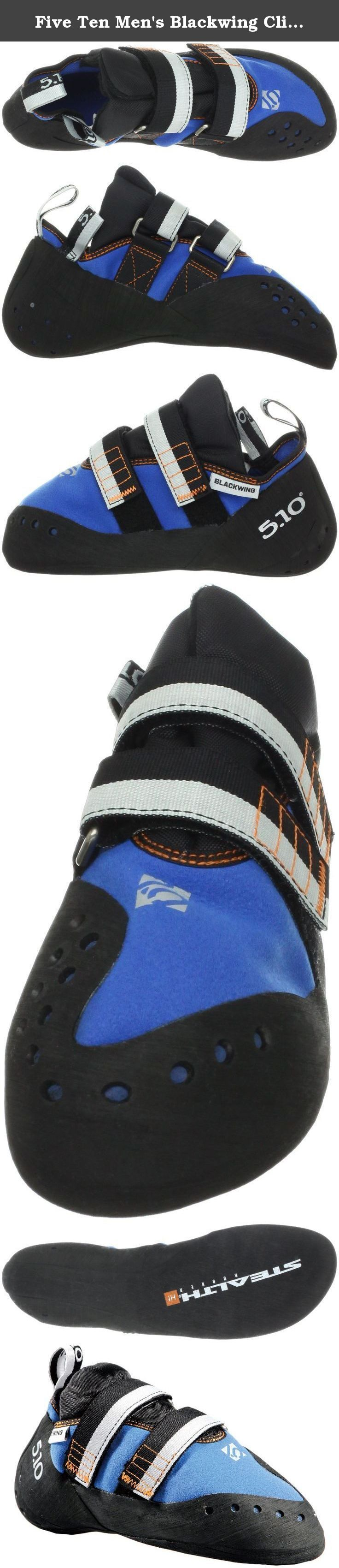 Five Ten Men's Blackwing Climbing Shoe,Blue/Orange,11.5 M US. Five Ten, the Brand of the Brave, is a leader in performance, high-friction footwear. From downhill mountain bike racing to rock climbing, from wing suit flying to kayaking, Five Ten makes footwear for the world's most dangerous sports. The Redlands, California-based company has been producing cutting-edge designs and proprietary Stealth rubber soles for nearly 30 years. With the help of top national and international athletes…