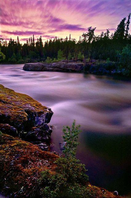 Trout Rock Rapids, Northern Saskatchewan, Canada; photo by .Ernie Fischhofer