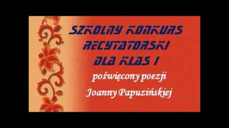 Szkolny Konkurs Recytatorski - 29.10.2015 rok