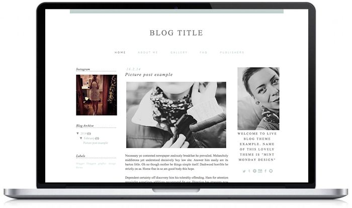 Pre-made #wordpress & #blogger templates can be purchased here: https://www.etsy.com/shop/DotTellAnyoneDesign! #bloggers #blog #theme #design #web #graphic #layout #handwritten #simple #minimal #grey #haki #watercolour www.donttellanyone.net