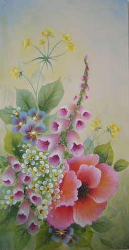 poppy floral insert - distinctivebrushstrokes