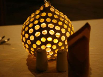 Lamps made from coconut shells coconut shell creations for Wealth from waste ideas