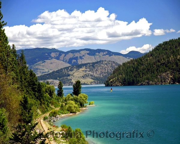 "Kalamalka Lake, BC - Means ""lake of many colours"" in Okanagan Native language. One of the most beautiful, warm lakes I have ever seen!"