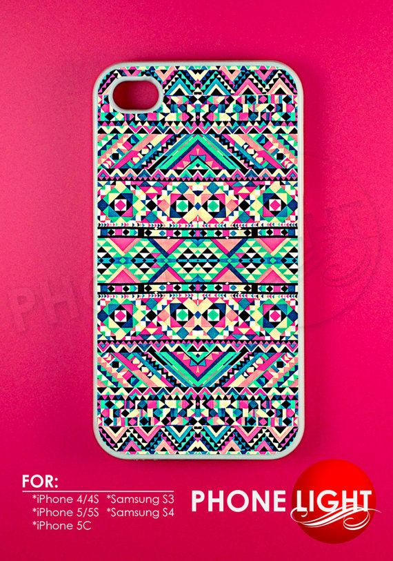 Pink Turquoise Girly Aztec Andes Tribal Phone Case  by PHONELIGHT, $13.99