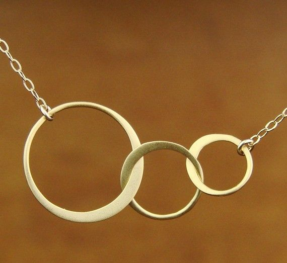 Three Eternal Circles in Vermeil and Gold Filled by Popsicledrum, $31.00
