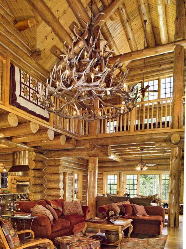 Best 25 deer antler chandelier ideas on pinterest for Log cabin chandeliers