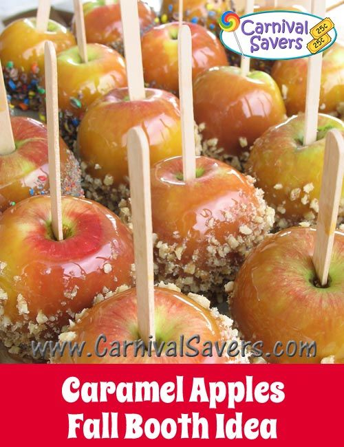 Caramel or Candy Apples Fall Festival Food Idea