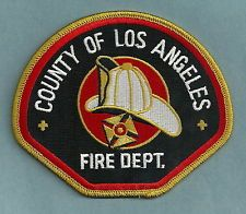 LOS ANGELES COUNTY CALIFORNIA FIRE DEPARTMENT PATCH